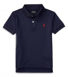 Ralph Lauren Little Boys Navy Performance Jersey Polo