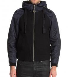 Black Custer Faux Fur Zip Jacket