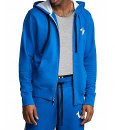 Turquoise Paneling Full Zip Hoodie
