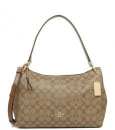 Coach Khaki Mia Large Shoulder Bag
