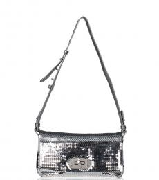 Miu Miu Silver Sequin Mini Shoulder Bag
