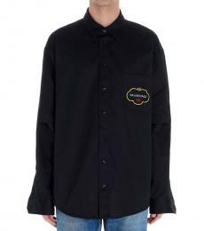 Balenciaga Black Logo Over Shirt