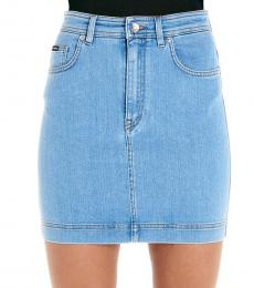 Dolce & Gabbana Light Blue Denim Skirt