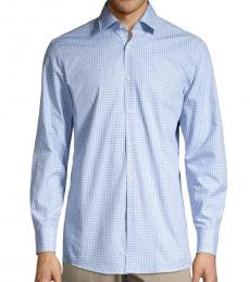 Hugo Boss Light Blue Plaid Checked Shirt
