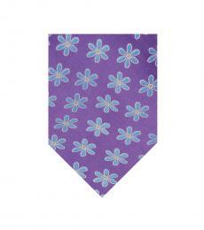 Purple Frames Flower Tie