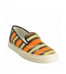 Multicolor Snake Print Loafers