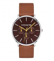 Coach Brown Varick Watch