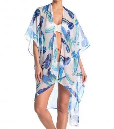 Multi color Oahu Palm Swimsuit Cover-Up