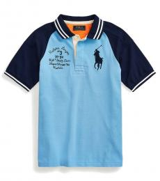 Ralph Lauren Boys Blue Lagoon Big Pony Mesh Polo