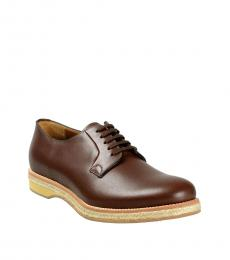 Prada Brown Leather Lace Ups