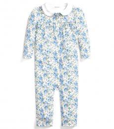 Ralph Lauren Baby Girls Multi Floral Interlock Coverall