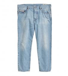 Diesel Light Blue Mharky Slim Skinny Distressed Jeans