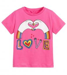 Stella McCartney Little Girls Pink Love T-Shirt