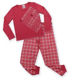 Calvin Klein 2 Piece Pajama Set (Girls)