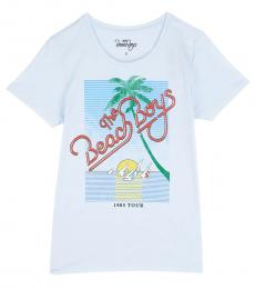 Lucky Brand Light Blue Graphic T-Shirt