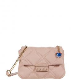 Betsey Johnson Blush Ellie Quilted Mini Shoulder Bag