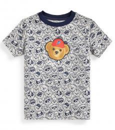 Ralph Lauren Little Boys Heather P Wing Polo Bear T-shirt