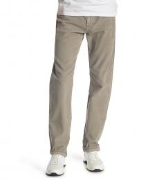 AG Adriano Goldschmied Beige Graduate Tailored Twill Jeans