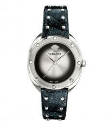 Versace Black Silver Shadov Watch