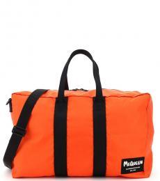 Alexander McQueen Orange Solid Large Duffle Bag