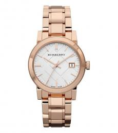 Burberry Rose Gold Check Dial Watch