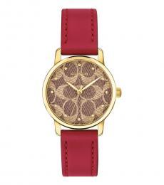 Coach Red Logo Watch