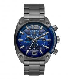 Silver Blue Chronograph Dial Watch