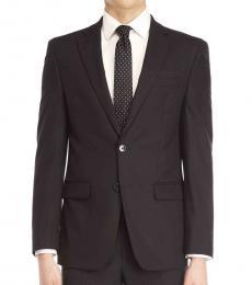 Calvin Klein Black Stretch Slim-Fit Suit Jacket