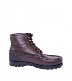 Dolce & Gabbana Brown Siracusa Boots