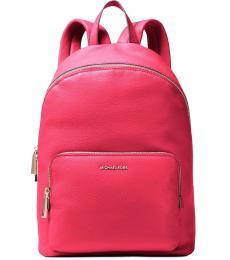 Michael Kors Dark Pink Wythe Large Backpack