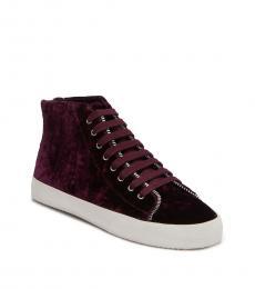 Acai Velvet Zaina Sneakers