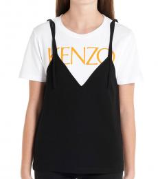Kenzo Black White High Summer Top