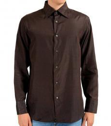 Cherry Black Casual Silk Shirt