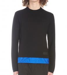 Black Nylon Insert Sweater