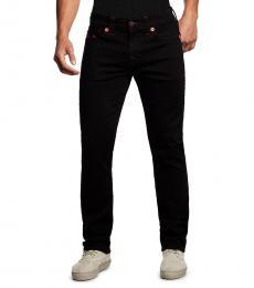 True Religion Body Rinse Black Ricky Straight Jeans