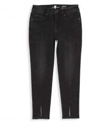 Little Girls Black Ankle Skinny Jeans
