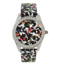 Multicolor Summertime Secrets Floral Watch