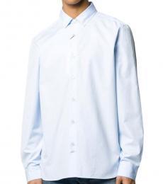 Blue Cotton Logo Shirt