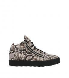 Snake Print High Top Sneakers