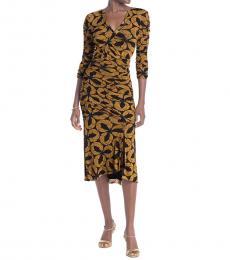 Diane Von Furstenberg Black Ruched Sheath Dress