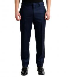 Dark Blue Flat Front Dress Pants