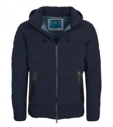 Dark Blue Puffer Down Jacket
