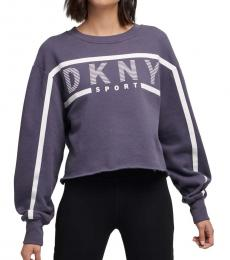 DKNY Blue Stripe Logo Sweatshirt