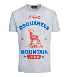 Dsquared2 Light Grey Graphic Print T-Shirt