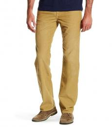 True Religion Straw Gold Relaxed Straight Jeans