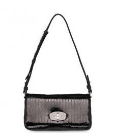 Miu Miu Black Sequin Mini Shoulder Bag