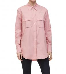 Calvin Klein Blush Button-Front Shirt