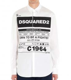 Dsquared2 White Logo Graphic Shirt