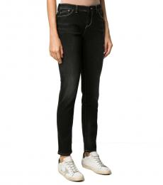 Emporio Armani Black Stretch-Fit Low-Waist Jeans