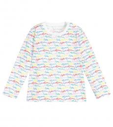 Stella McCartney Little Girls White Signature T-Shirt